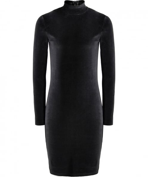 Alexander Wang Velour Turtleneck Mini Dress