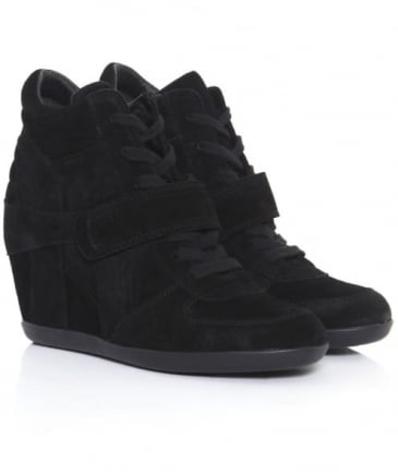 Bowie Suede Wedge Trainers