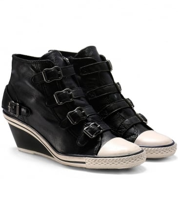 Leather Genial Wedge Trainers