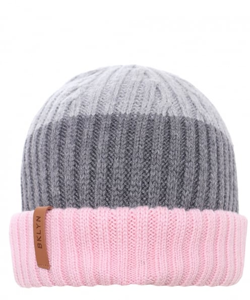 BKLYN Merino Wool Three-Tone Beanie Hat
