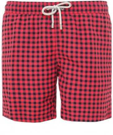 Mid Length Arthur Petit Carre Swim Shorts