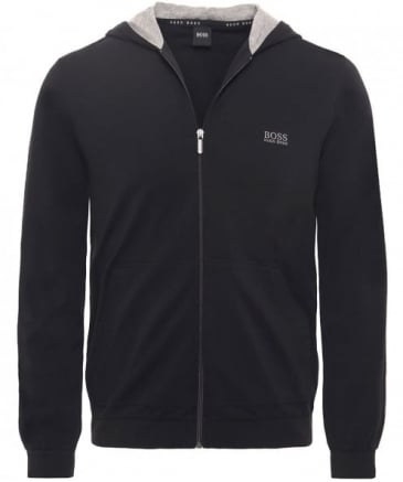 Stretch Jersey Zip-Through Hoodie