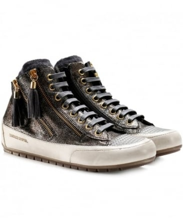 Leather Lucia High Top Trainers