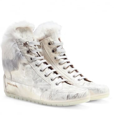 Leather Roberta Fur Trainers