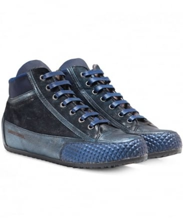 Metallic Leather Costine Trainers