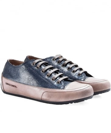Metallic Leather Rock Apache Trainers