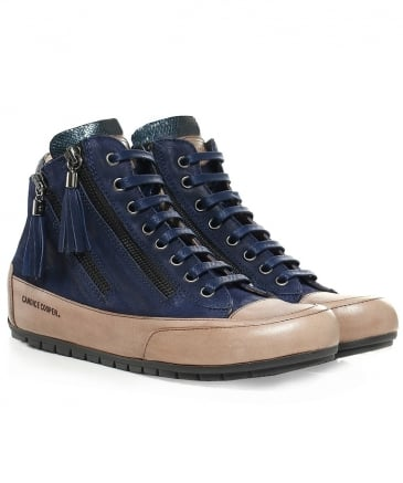 Suede Lucia Mid-Top Trainers