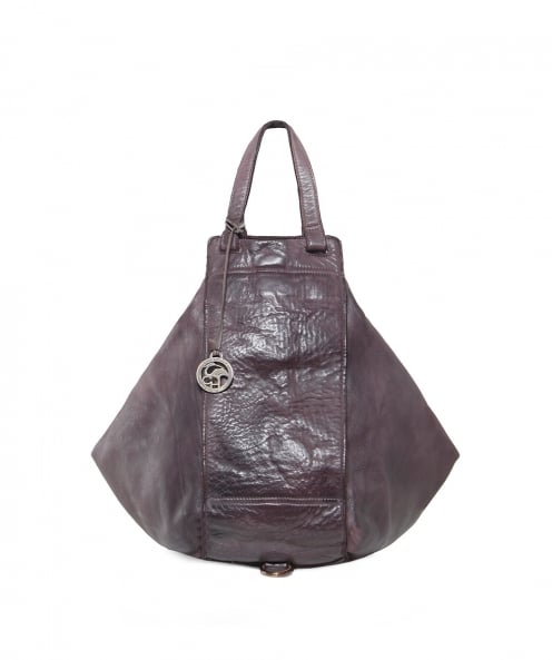 Charlotte Pelletteria Washed Leather Cine Shopper Bag