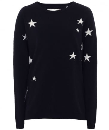 Cashmere Slouchy Star Jumper