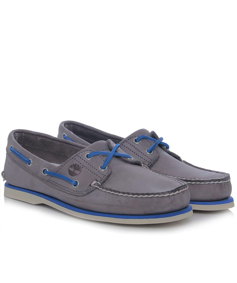 timberland classic boat shoes grey