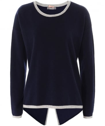 Cashmere Open Back Jumper