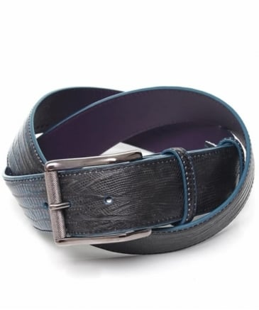 Mock Snakeskin Leather Belt