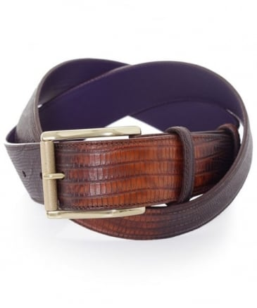 Two-Tone Snake Effect Belt