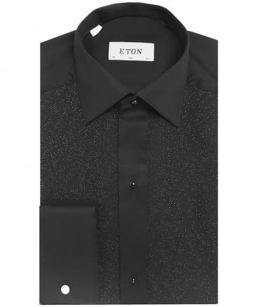 Slim Fit Shimmer Pique Dress Shirt