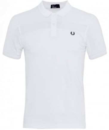 Contrast Panel Pique Polo Shirt