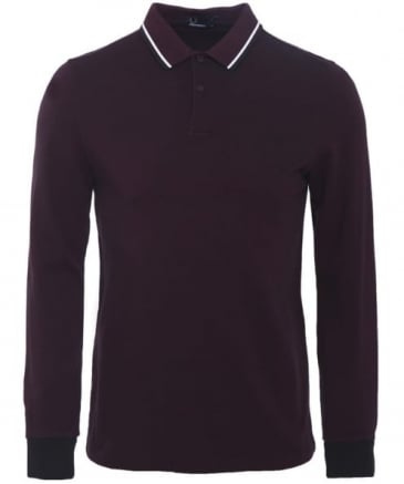 Long Sleeved Twin Tipped Polo Shirt