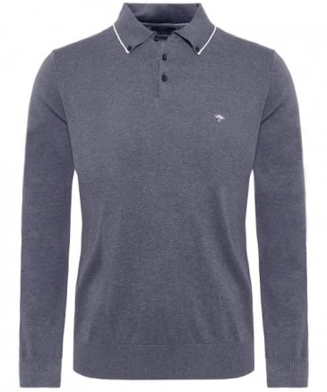 Modern Fit Long Sleeve Polo Shirt