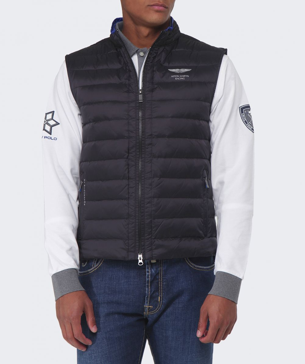 hackett black aston martin racing gilet available at jules b. Black Bedroom Furniture Sets. Home Design Ideas