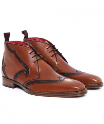 Leather Capone Chukka Boots
