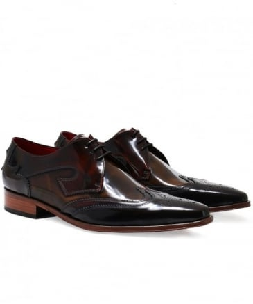 Patent Leather Yardbird Wingtip Shoes