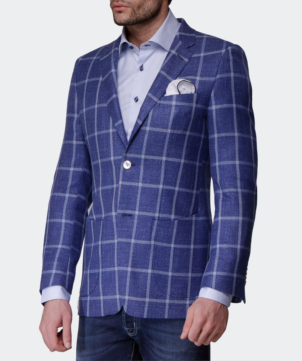 Blue Check Jacket 7DB1yG