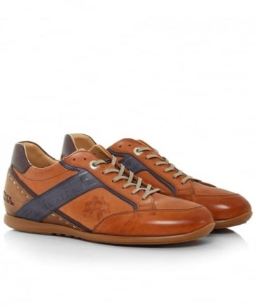 Calf Leather Delave Cuoio Trainers