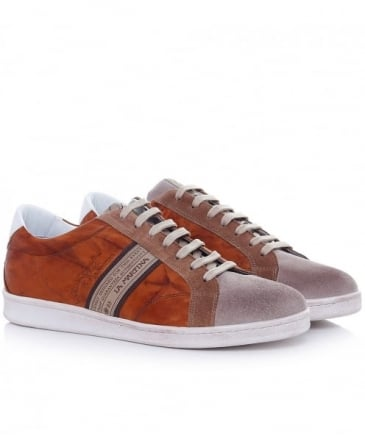 Leather Camoscio Farro Trainers