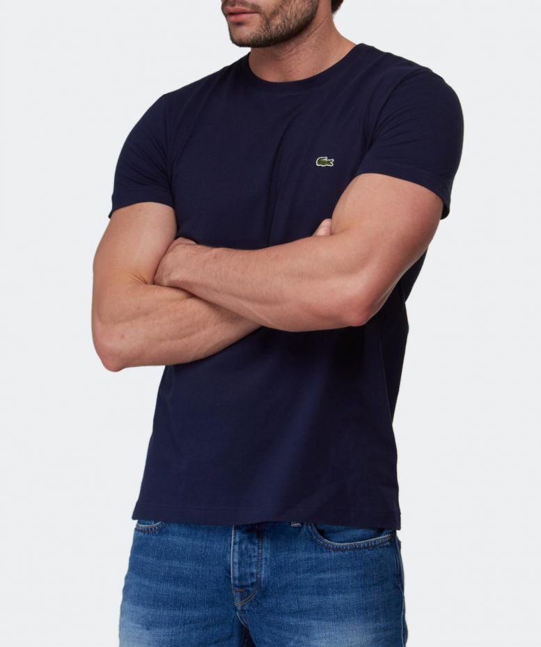 Lacoste Navy Jersey Crew Neck T Shirt Available At Jules B
