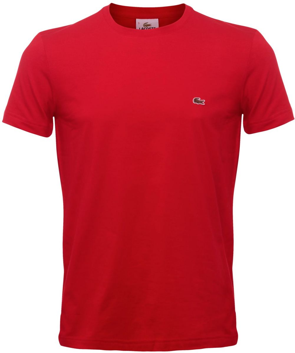 lacoste red jersey crew neck t shirt available at jules b. Black Bedroom Furniture Sets. Home Design Ideas