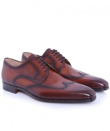 Leather Wing-Tip Shoes