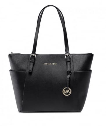 Jet Set Travel Top Zip Tote Bag
