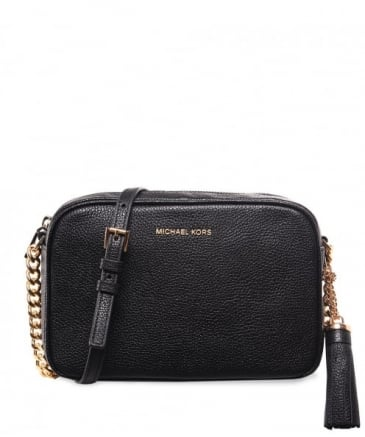 Pebbled Leather Ginny Crossbody Bag
