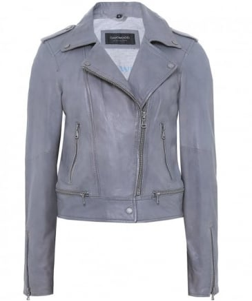 Sidonie Leather Biker Jacket