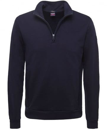 Cotton Half-Zip Sweatshirt