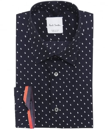 Classic Fit Rabbit Print Shirt