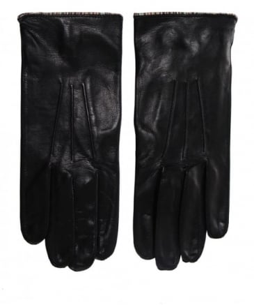 Leather Striped Trim Gloves