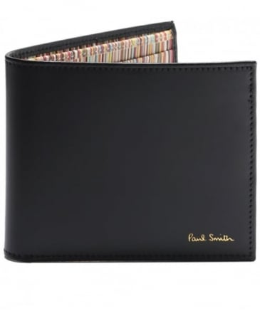 Smooth Leather Signature Stripe Wallet