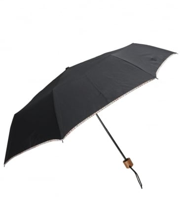 Stripe Trim Telescopic Umbrella