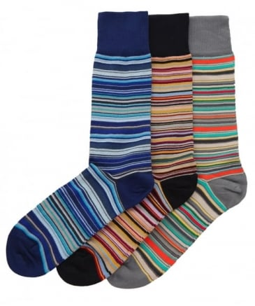 Striped Three Pack of Socks