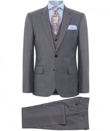 Tailored Fit Three Piece Wool Suit