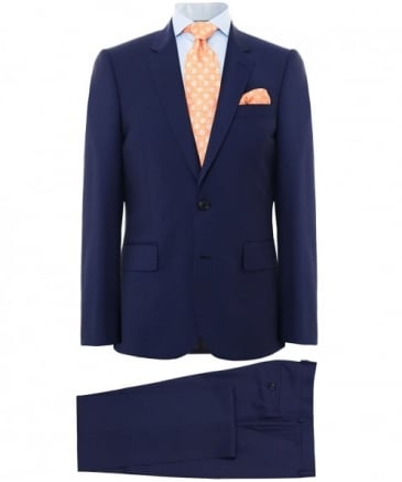 Tailored Fit Virgin Wool Check Suit