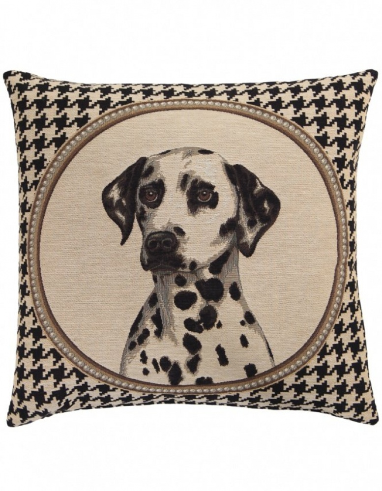 Fs Home Collection fs home collection   houndstooth dalmatian cushion   jules b