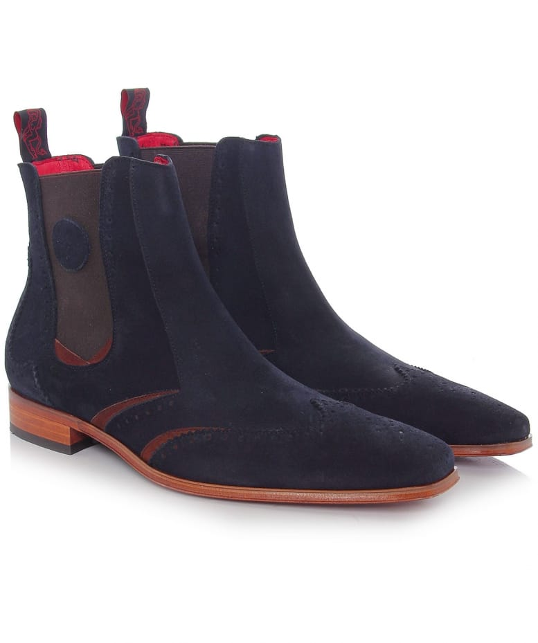 Navy Scarface Chelsea Boots | Jules