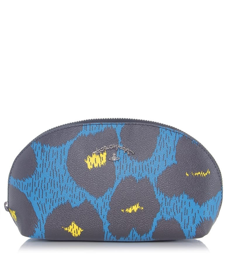 b1be460960a Vivienne Westwood Anglomania Blue Leopardmania Cosmetics Bag | Jules B