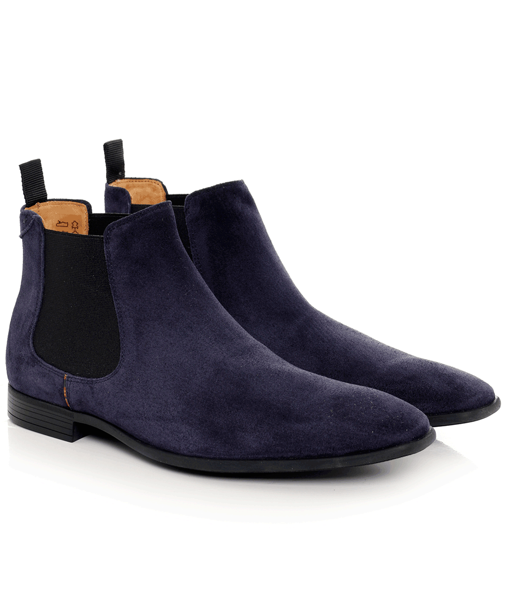 7e569f34878a PS by Paul Smith Blue Suede Falconer Chelsea Boots | Jules B