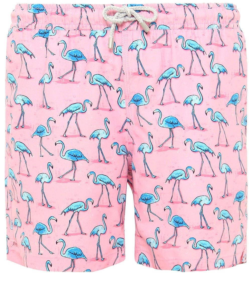 3b2556453c Bluemint Pink Mid Length Arthur Flamingo Swim Shorts | Jules B