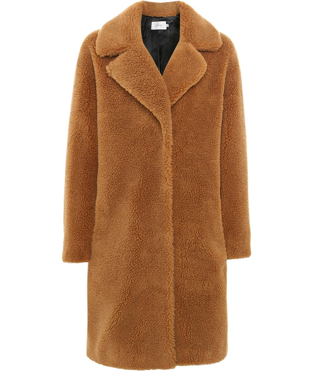 aeca791303a5 Stand Faux Shearling Camille Cocoon Coat | Jules B