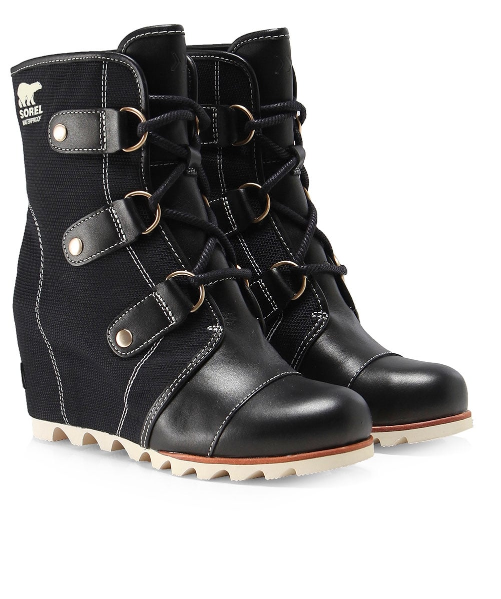 c294c17ac2c3 Sorel Black Joan Of Arctic Wedge Boots