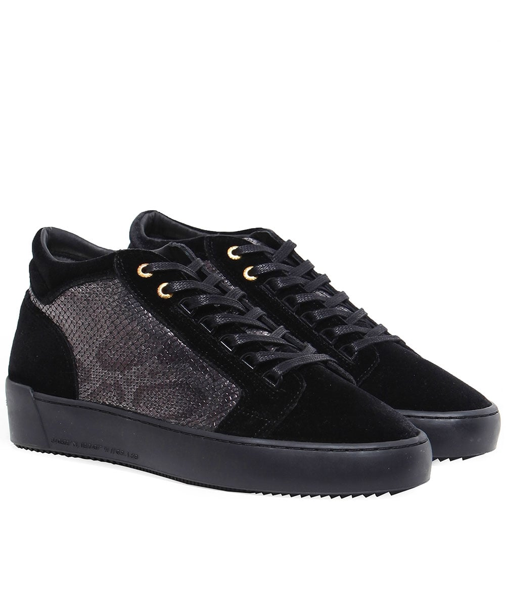 4613a92a3f3 Android Homme Black Velvet Propulsion Trainers