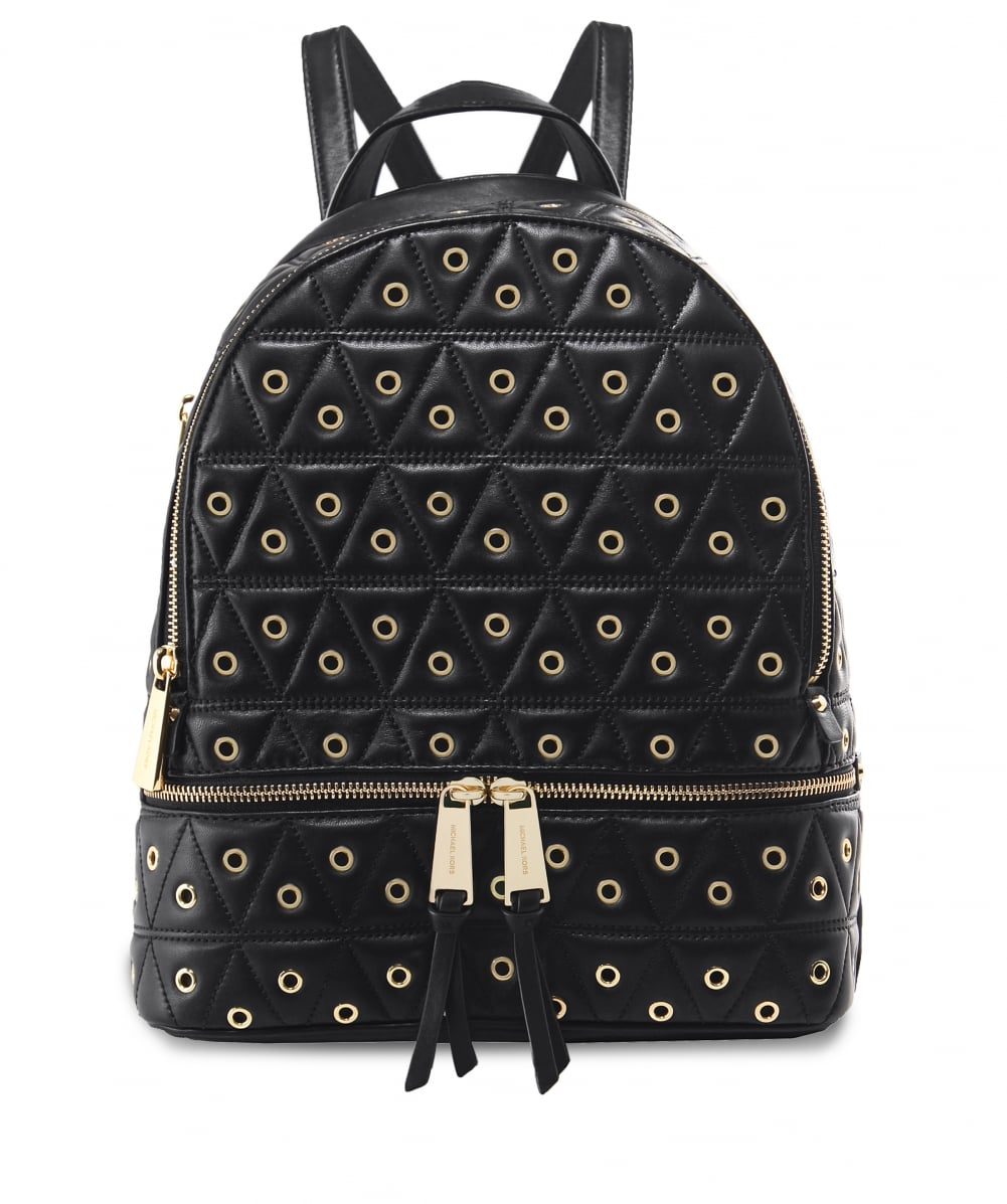 4d2ee02f9552 MICHAEL Michael Kors Grommet Leather Rhea Quilted Backpack | Jules B